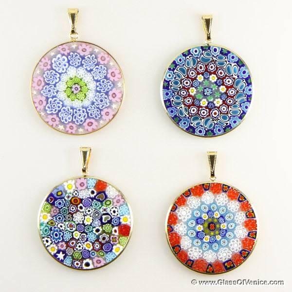 Large Millefiori Pendants | Wholesale Murano Glass And Murano Pertaining To Venetian Glass Pendants (#7 of 15)