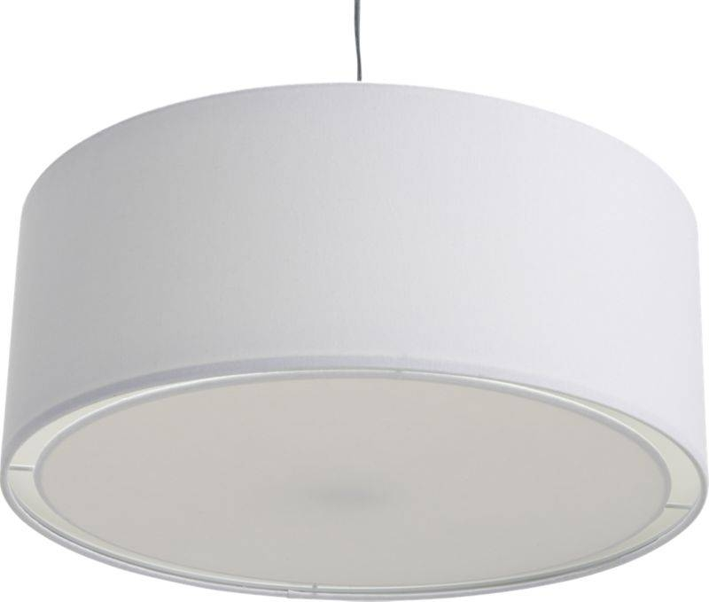 Large White Drum Pendant Light | Keysindy Pertaining To Black And White Drum Pendant Lights (View 3 of 15)