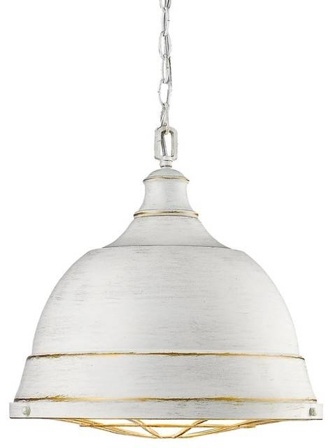 Largo Pendant Light, French White Finish – Beach Style – Pendant Inside Beach Style Pendant Lights (View 11 of 15)