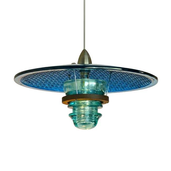 Led Insulator Light Pendant Custom – Railroadware For Antique Insulator Pendant Lights (#10 of 15)