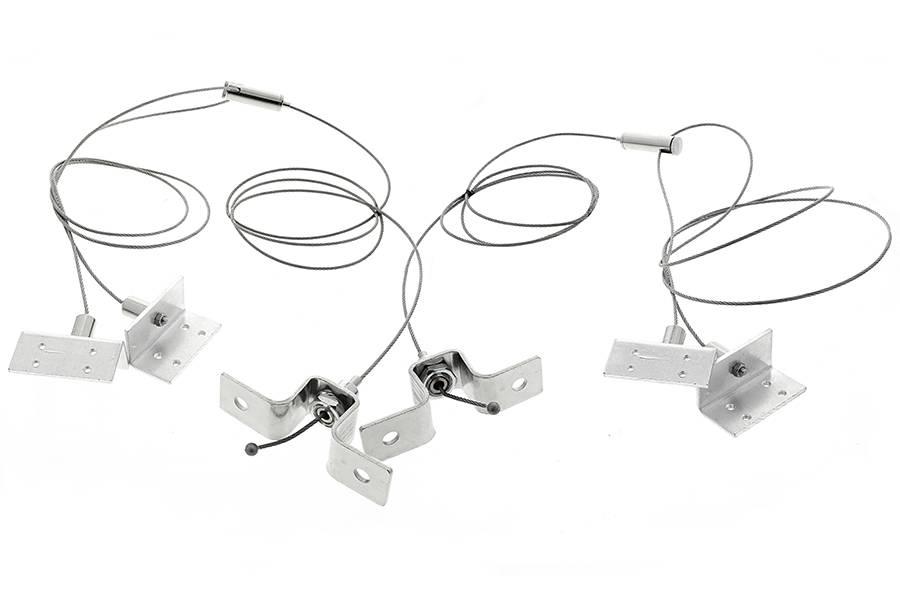 Led Panel Light Suspension Kit Mounting Hardware For 40W Led Panel For Led Pendant Light Kits (#9 of 15)