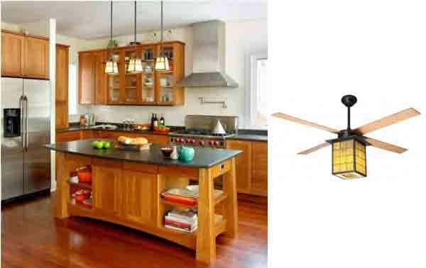 Library Ceiling Fan For Arts & Craft Style Homes | Blog With Regard To Arts And Crafts Lights (View 10 of 15)