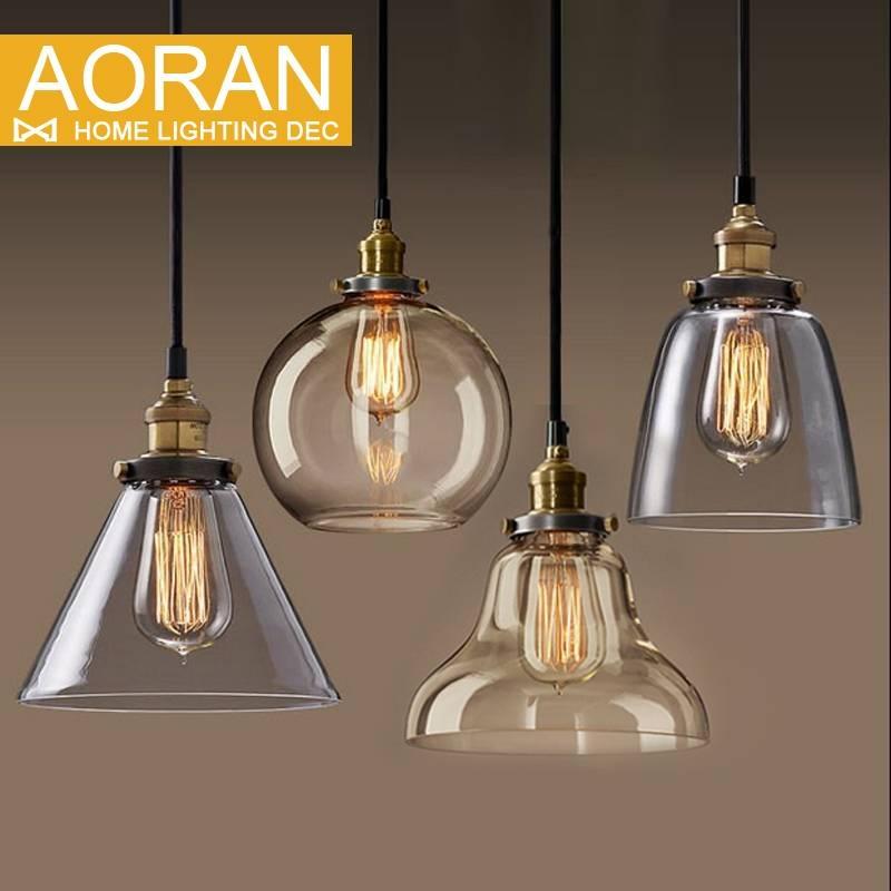 Light Bulb Pendant Light Copper Glass Restaurant Pendant Light Pertaining To Restaurant Pendant Lighting (View 12 of 15)