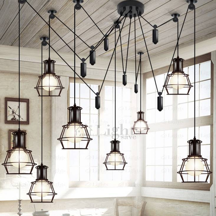Light Country Style Industrial Kitchen Lighting Pendants Throughout Industrial Kitchen Lighting Pendants (#12 of 15)