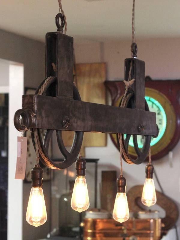 Light Fixture : Pulley Light Fixture – Home Lighting Within Pulley Lights Fixtures (#11 of 15)