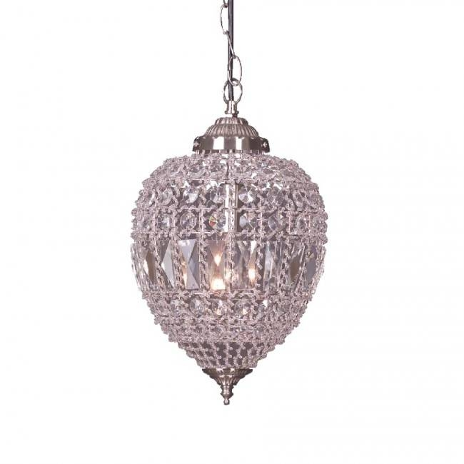 Lighting Australia | Plume One Light Crystal Chain Pendant With Mercator Pendant Lights (#8 of 15)