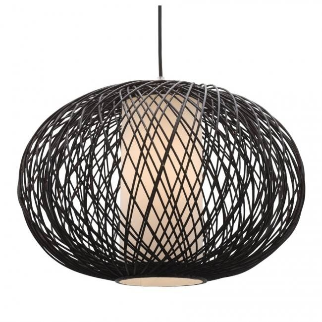 Lighting Australia | Virgo One Light Pendant In Chocolate Bamboo Within Mercator Pendant Lights (#9 of 15)