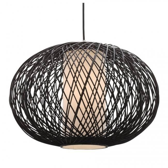 Lighting Australia | Virgo One Light Pendant In Chocolate Bamboo Within Mercator Pendant Lights (View 3 of 15)