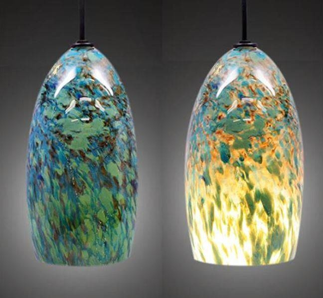 Lighting Blog | Blown Glass Pendant Lights For Unique Kitchens Throughout Hand Blown Glass Pendant Lights (#10 of 15)