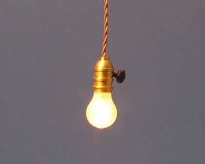Lighting Bug : Miniature Cottage, Dollhouse Miniatures In Nashville Inside Bare Bulb Lights Fixtures (View 10 of 15)