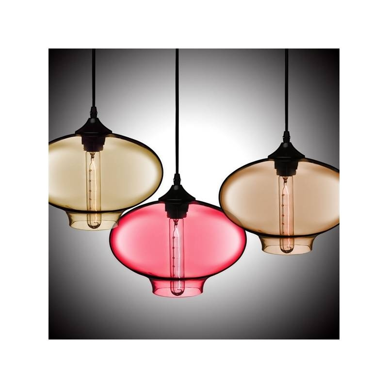Lighting – Ceiling Lights – Pendant Lights – (in Stock) Hand Blown With Blown Glass Ceiling Lights (View 14 of 15)