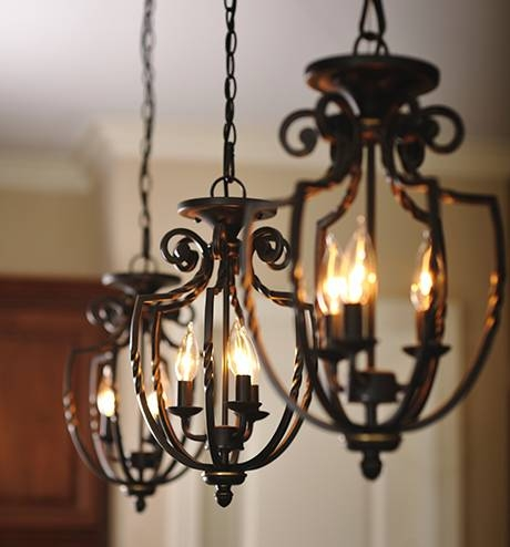 Lighting & Décor Trends For 2015: Back To Nature | Ge Lighting With Regard To Black Wrought Iron Pendant Lights (#11 of 15)