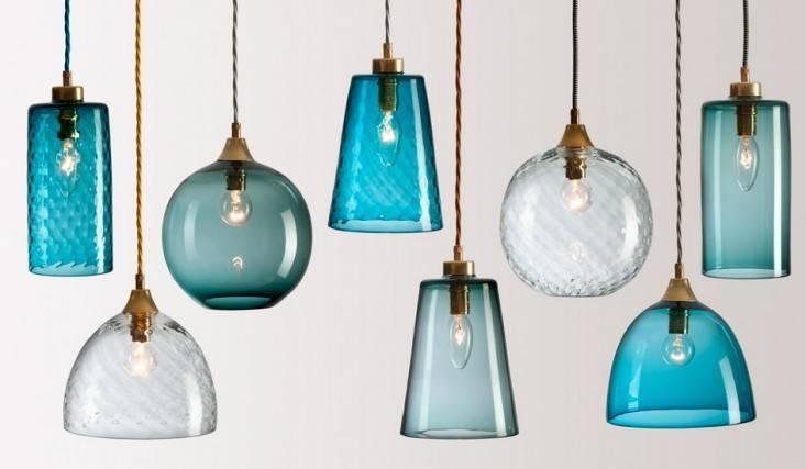 Lighting Design Ideas: Adorable Cobalt Blue Glass Pendant Lights Pertaining To Glass Pendant Light Shades (#13 of 15)