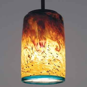 Lighting Design Ideas: Best Examples Of Art Glass Pendant Lights With Art Glass Pendant Lights Shades (View 6 of 15)