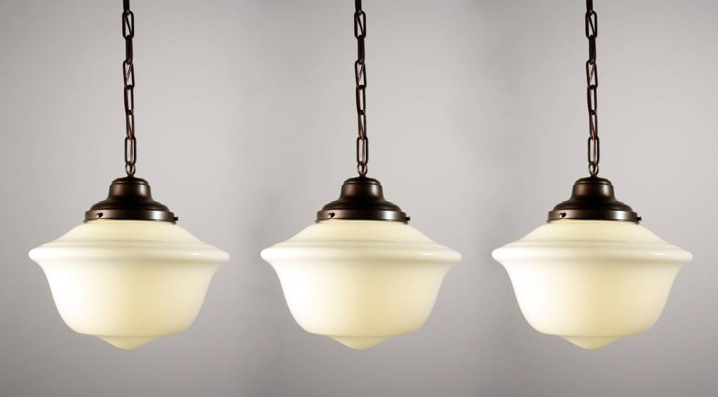 Lighting Design Ideas: Clear Glass Schoolhouse Pendant Lights Throughout Schoolhouse Pendant Lights Fixtures (#7 of 15)