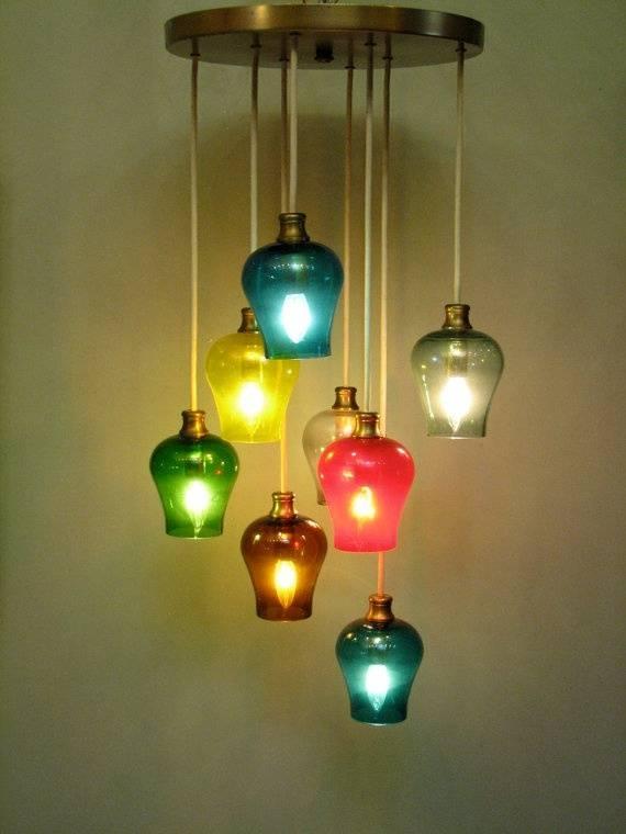 Lighting Design Ideas : Colored Glass Pendant Lights Impressive For Coloured Glass Pendants (#14 of 15)