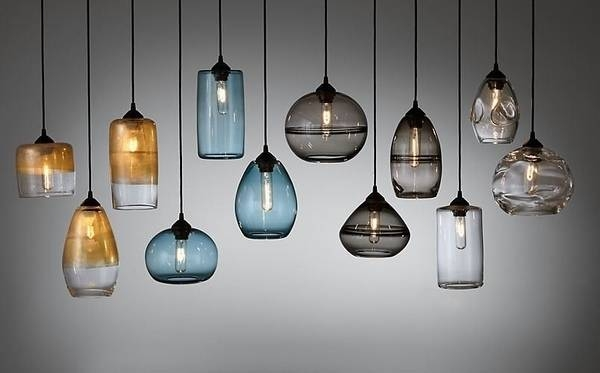 15 collection of colored glass pendant lights aloadofball Choice Image