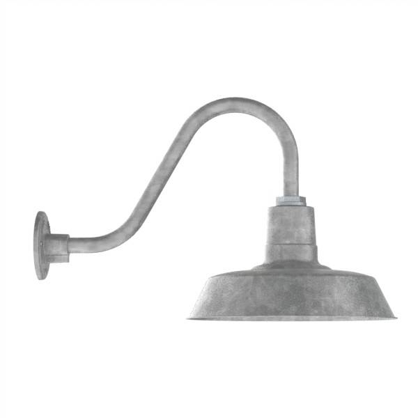 Lighting Design Ideas: Exterior Goose Neck Light In Awesome Barn Throughout Galvanized Barn Lights (#10 of 15)