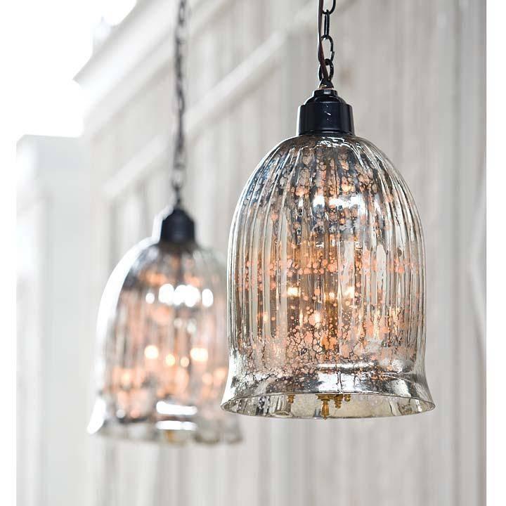 Popular Photo of Mercury Glass Pendant Lights Fixtures