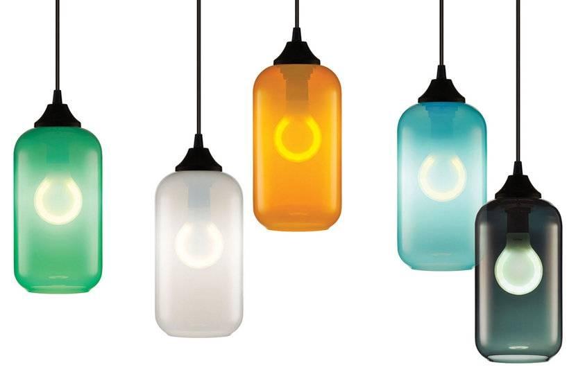 Lighting Design Ideas: Mini Multi Colored Glass Pendant Lights In Coloured Glass Pendants (#15 of 15)