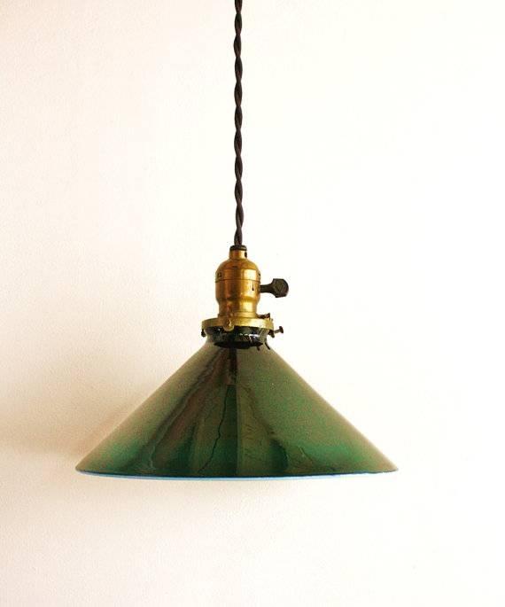 Lighting Design Ideas: Modern Shaped Green Glass Pendant Light With Regard To Green Glass Pendant Lighting (#11 of 15)