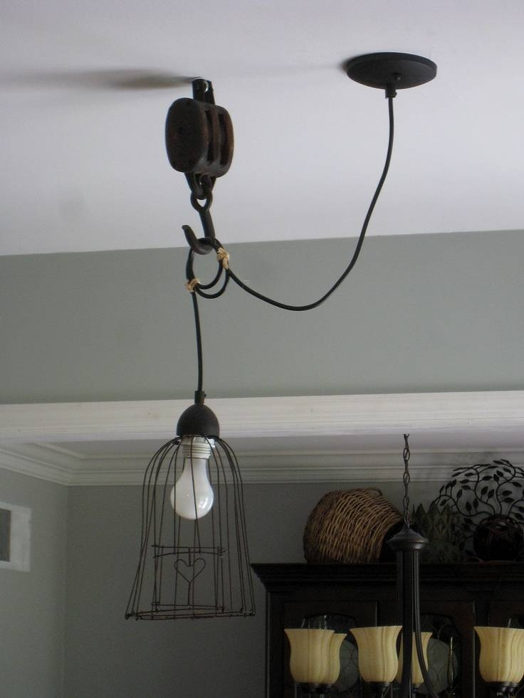Lighting Design Ideas: Pulley Pendant Light Fixture Pulley Ceiling With Regard To Pulley Pendant Lights Fixtures (#14 of 15)