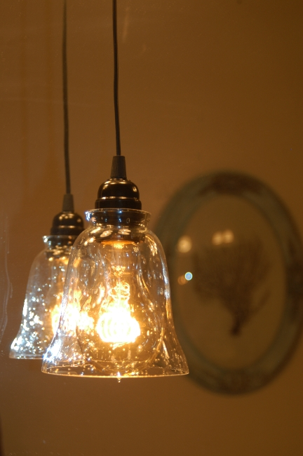 Lighting Design Ideas: Seeded Glass Pendant Light Seeded Glass Regarding Seeded Glass Mini Pendant Lights (#8 of 15)