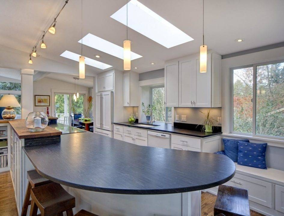 Lighting Ideas: Kitchen Track Lighting And Pendant Lamps Over With Pendant Lights For Vaulted Ceilings (#8 of 15)