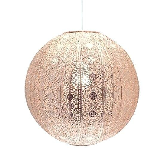 Lighting : Yellow Punched Metal Pendant Light Moroccan Perforated For Moroccan Punched Metal Pendant Lights (#8 of 15)
