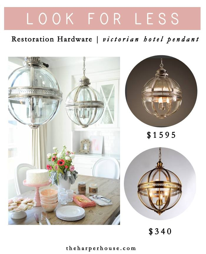 Look For Less: Restoration Hardware Victorian Hotel Pendant | The Regarding Victorian Hotel Pendant Lights (#7 of 15)