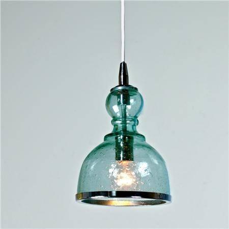 Lovable Glass Pendant Light Fixtures Mercury Glass 1 Light Pendant For Blue Mercury Glass Pendant Lights (View 10 of 15)