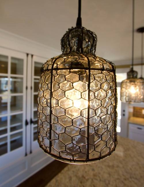Love The Chicken Wire Pendant (#9 of 15)