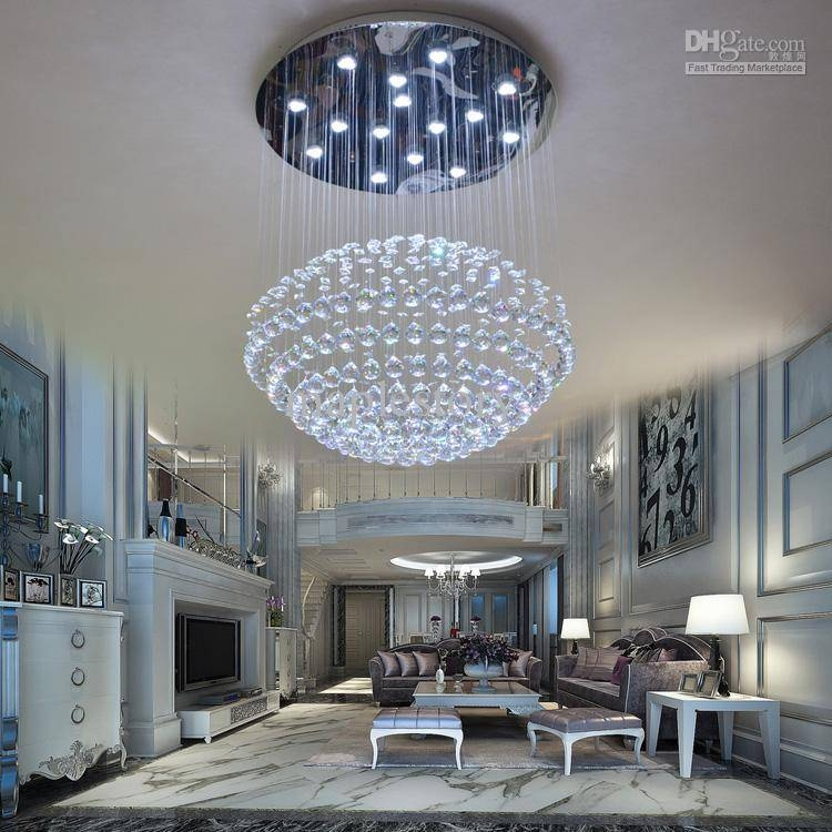 Luxury Crystal Pendant Light Brief Modern Led Crystal Pendant Within Luxury Pendant Lighting (View 6 of 15)