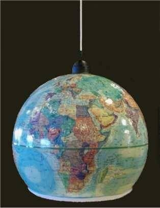 Make A Pendant Light Out Of An Outdated World Globe Intended For World Globe Pendant Lights (View 3 of 15)