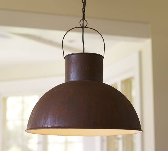 Mansfield Barn Industrial Indoor/outdoor Pendant | Pottery Barn Regarding Barn Pendant Lights Fixtures (#8 of 15)