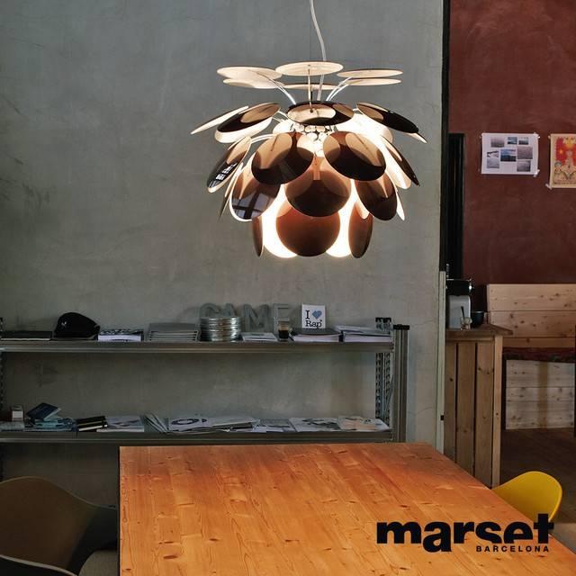 Marset Discoco Pendant Light Chocolate With Regard To Discoco Pendant Lights (#13 of 15)