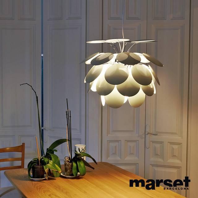Marset Discoco Pendant Light Sand For Discoco Pendant Lights (#14 of 15)