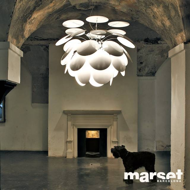 Marset Discoco White Pendant Light Pertaining To Discoco Pendant Lights (#15 of 15)