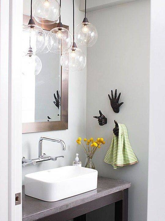 Marvelous Hanging Bathroom Light Fixtures 2017 Ideas – Double With Bathroom Mini Pendant Lights (#7 of 15)