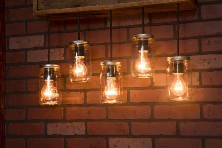 Mason Jar Wall Sconce With Reclaimed Wood Pendants | Id Lights Within Reclaimed Pendant Lighting (View 3 of 15)