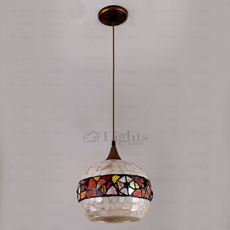 Mediterranean Pendant Light Shade Shell Shade With Shell Light Shades Pendants (#5 of 9)
