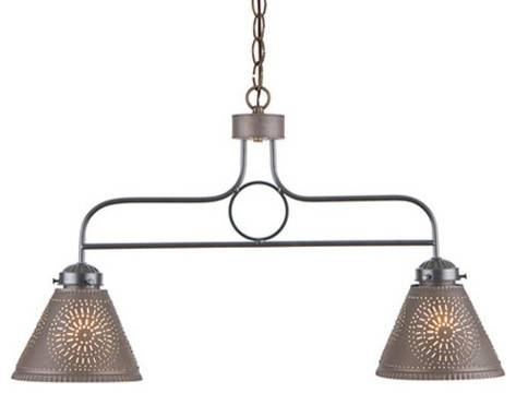 Medium Franklin Island Light With Kettle Black Punched Tin Shades Throughout Punched Tin Pendant Lights (#4 of 15)