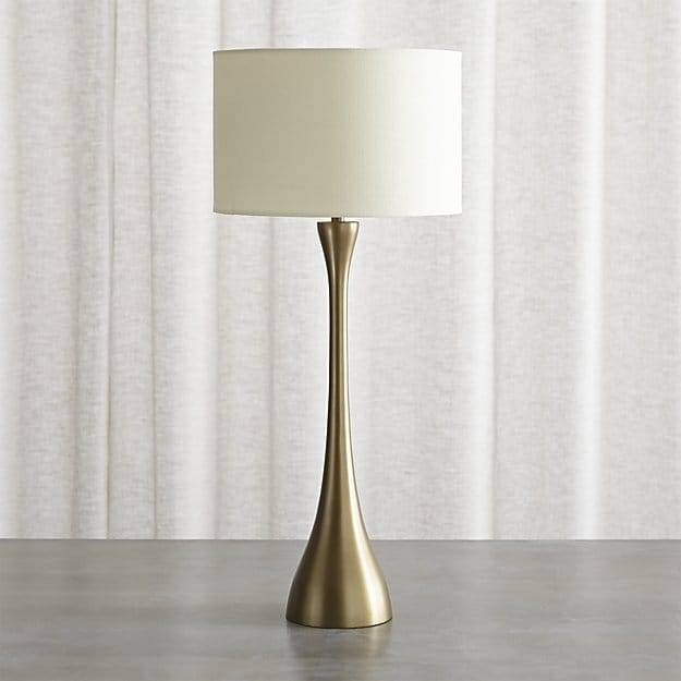 Melrose Brass Table Lamp | Crate And Barrel With Crate And Barrel Shades (#9 of 15)