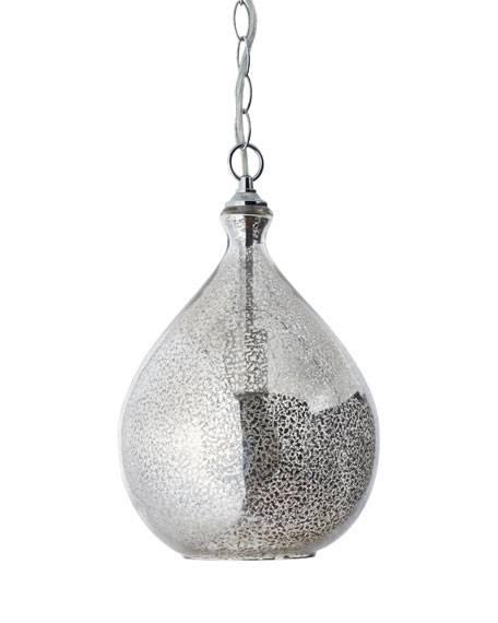 Mercury Glass 1 Light Pendant In Mercury Glass Lighting Fixtures (View 14 of 15)