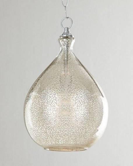 Popular Photo of Mercury Glass Pendant Lights