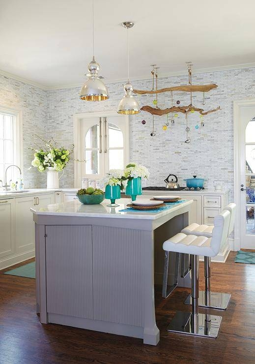 Mercury Glass Chandelier – Transitional – Kitchen – Carter Inside Jamie Young Pendant Lights (#13 of 15)