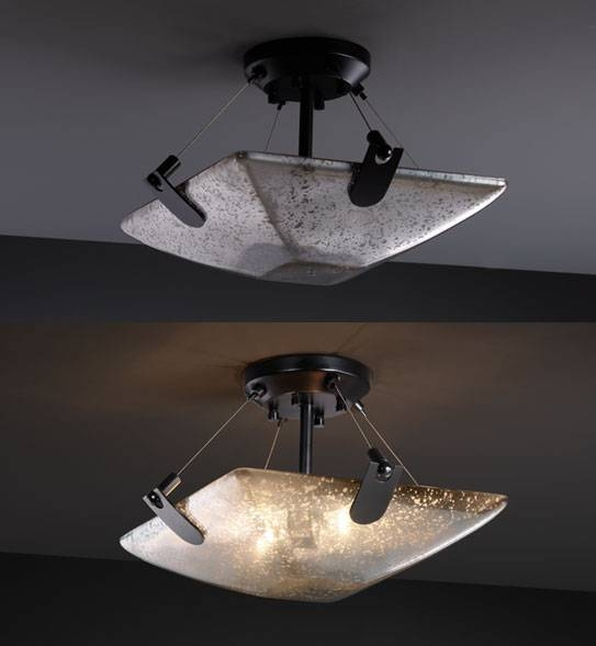 Popular Photo of Mercury Glass Lighting Fixtures