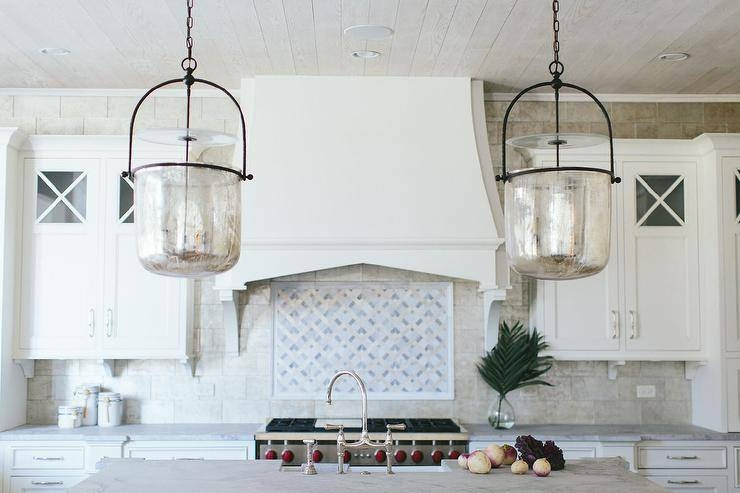 Mercury Glass Smokebell Kitchen Pendant Lights – Transitional Throughout Mercury Glass Pendant Lighting (#10 of 15)