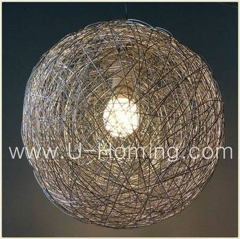 Mesh Wire Ball Pendant Lamp Fabric Pendant Ceiling Light – Buy In Wire Ball Lights Pendants (#9 of 15)