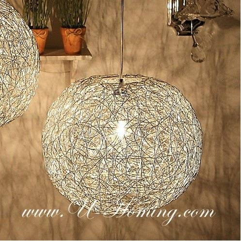 Mesh Wire Ball Pendant Lamp Fabric Pendant Ceiling Light – Buy Within Wire Ball Lights Pendants (#11 of 15)